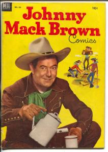 Johnny Mack Brown-Four Color Comics #455-Dell-photo covers-B-Western star-VG
