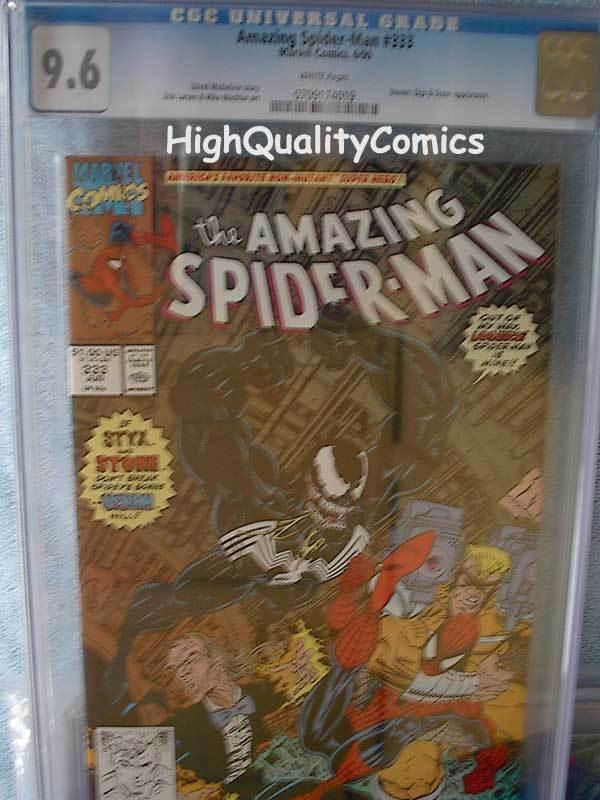 SPIDER-MAN #333, Venom, Larsen, Battle, CGC 9.6, NM+, WP, more in store
