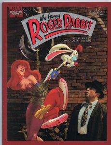 ORIGINAL Vintage 1989 Who Framed Roger Rabbit Marvel Graphic Novel