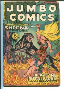 Jumbo #133 1950-Fiction House-Sheena-Ghost Gallery-The Hawk-VG
