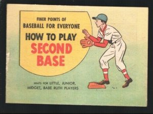 Finer Points Of Baseball For Everyone 1962-How To Play Second Base-DX promo i...