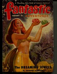 Fantastic Adventures-Pulp-2/1950-Theodore Sturgeon-Peter Worth