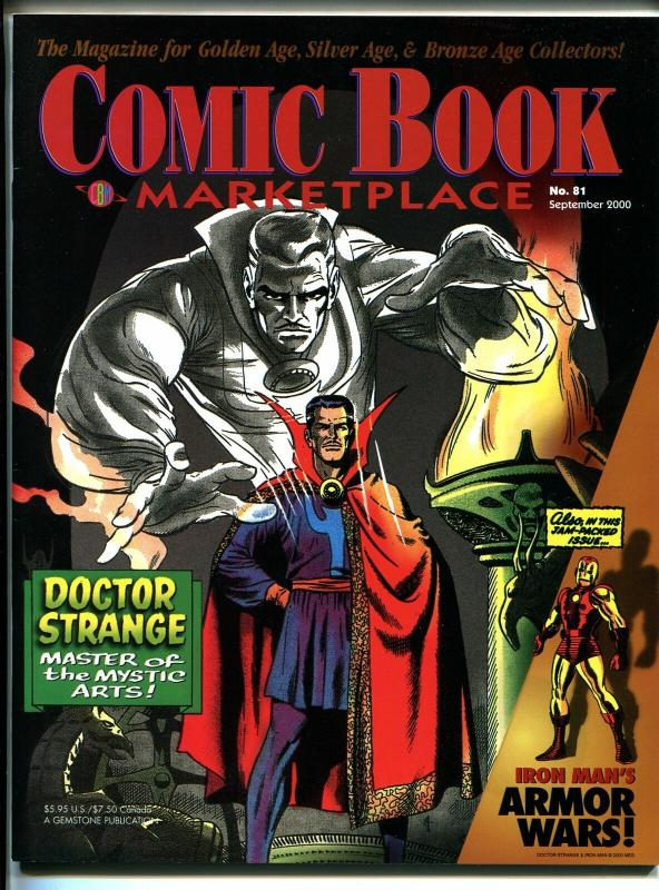 Comic Book Marketplace #81 2000-Gemstone-Dr Strange-Iron Man-collector info-VF