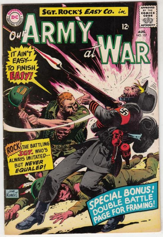 Our Army at War #157 (Aug-65) VF+ High-Grade Easy Company