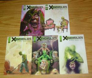 Xenoholics #1-5 VF/NM complete series alcoholics anonymous for alien abductees