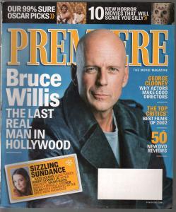 Premiere 4/2003-Movie Magazine-Bruce Willis-George Clooney-Salma Hayek-FN