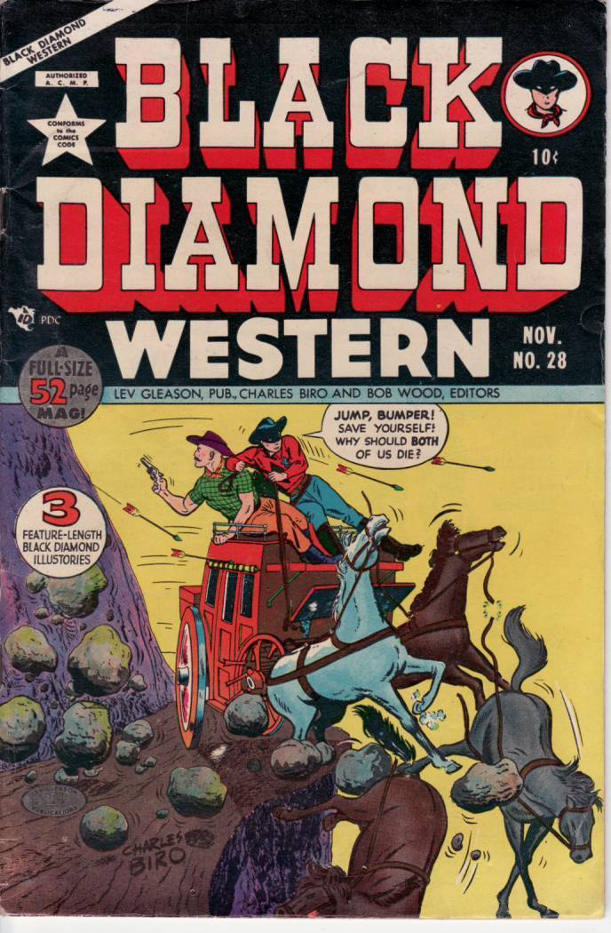 BLACK DIAMOND WESTERN #28 WOLVERTON EGYPTIAN COLLECTION FN / HipComic