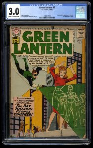 Green Lantern #7 CGC GD/VG 3.0 Cream To Off White 1st Sinestro! DC Comics