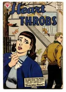 HEART THROBS #51 1957 DC-ROMANCE-comic book VG/FN