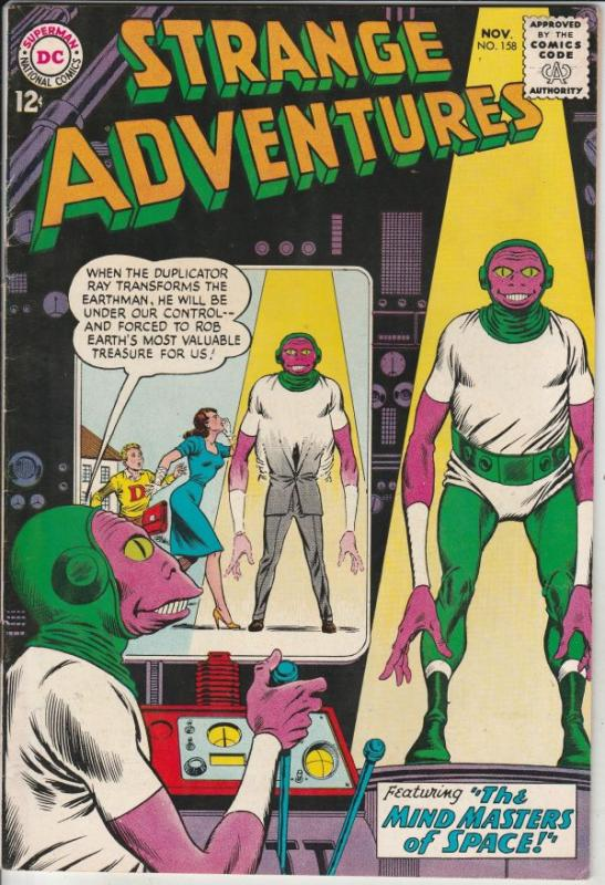 Strange Adventures #158 (Nov-63) VF/NM High-Grade Star Hawkins