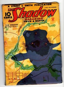 SHADOW 1935 June 15 -HIGH GRADE- STREET AND SMITH-RARE PULP FN/VF