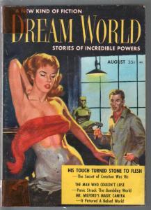 Dream World #3 8/1957-Robert Silverberg-Harlan Ellison-spicy GGA-VG