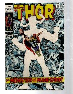 Mighty Thor # 169 FN/VF Marvel Comic Book Loki Odin Asgard Sif Avengers Hulk RB8