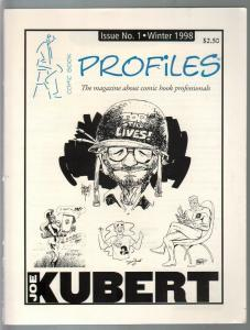 Comic Book Profiles #1 Winter 1998-1st issue-Joe Kubert issue-VF