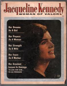 Jacqueline Kennedy Woman Of Valor #1 1964-Macfadden-1st Issue-JFK-G/VG