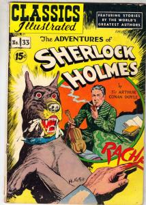 Classic Comics #33 (Jan-47) VG/FN Mid-Grade Sherlock Holmes, Doctor Watson