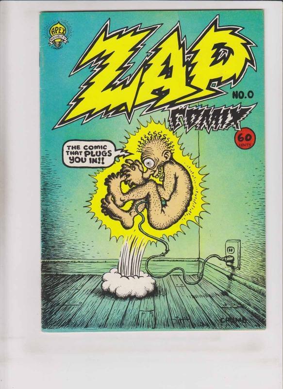 Zap Comix #0 VF (6th) print apex ROBERT CRUMB underground comix