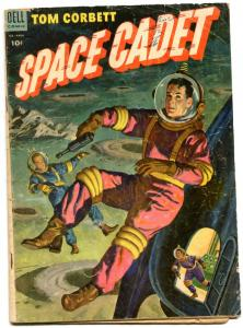 Tom Corbett Space Cadet #9 1954-DELL COMICS-Ray Gun Cover- John Lehti F/G