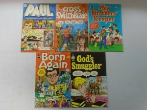 Christian comic lot 10 different issues avg 4.0 VG