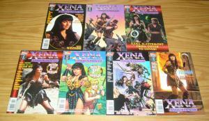 Xena Warrior Princess #0 & 1-2 VF/NM complete series +(4) variants -dave stevens