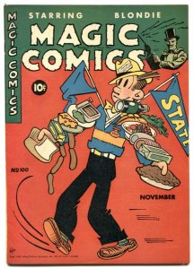 Magic Comics #100 1947-Dagwood-Blondie- Mandrake-Popeye-Lone Ranger- VF