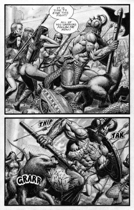 SEAN PATTY original art, WORGARD VIKING BERSERKER, 11x17, 2011, Battle, Pg 17