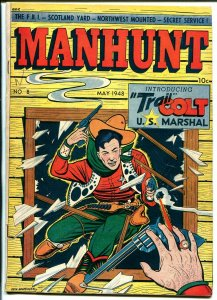 Manhunt  #18 1948-ME-Fred Guardineer-Trail Colt-LB Cole-Red Fox RCMP-FN-