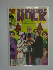 Incredible Hulk #319 Newsstand edition 6.0 FN (1986 1st Series)