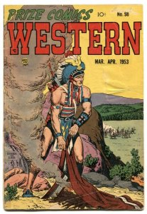 Prize Comics Western #98 1953-AMERICAN EAGLE-Severin VG-