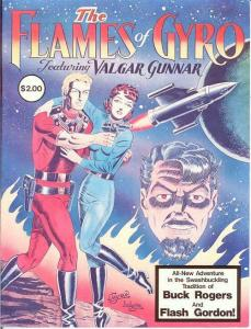 FLAMES OF GYRO 1 ( 2.00 cvrpr) F-VF SPACE OPERA A LA BU