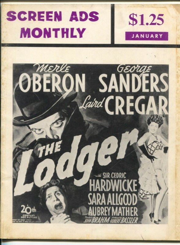 Screen Ads Monthly #4 1968-repros of vintage movie posters & ads-Zorro-Tom Mix-V