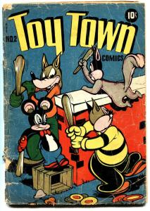 TOYTOWN  #2 1945-L.B. COLE-FUNNY ANIMAL-GOLDEN-AGE
