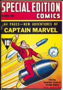 Flashback #2 1970's-Reprints Special Edition Comics #2 from 1940-Capt Marvel-FN