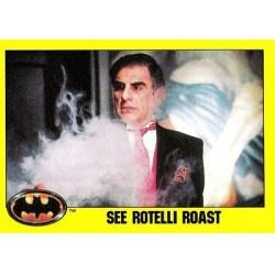 1989 Batman The Movie Series 2 Topps SEE ROTELLI ROAST #172