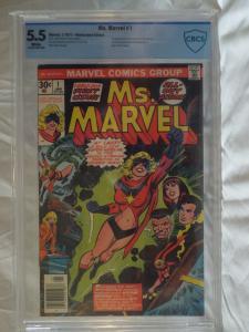 Ms. Marvel #1 (1977) - CBCS 5.5 - 1st Carol Danvers as Ms. Marvel