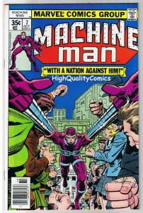 MACHINE MAN #7,  VF+, Jack Kirby, Living Robot, 1978, more JK in store