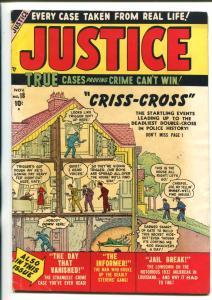 JUSTICE COMICS #18 ATLAS VIOLENT PRE-CODE CRIME 1950 FN/VF