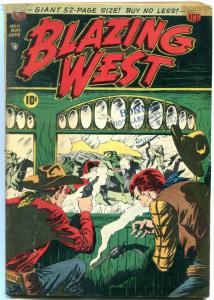 Blazing West Comics #11 1950- Golden Age Western- Injun Jones VG