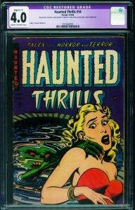 Haunted Thrills #14 CGC 4.0 C-1 1954-Pre-code Horror-Headlight cover-2125262002