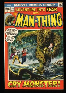 Fear #10 FN 6.0 1st Man-Thing in Title!