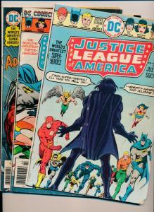 Justice League of America #123,132,138 ~ DC Comics 1975-7 ~ VG/Low Grade (PJ42)