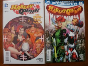 2 HARLEY QUINN Comic Book: #3 (DC Universe Rebirth) & #4 (The New 52)