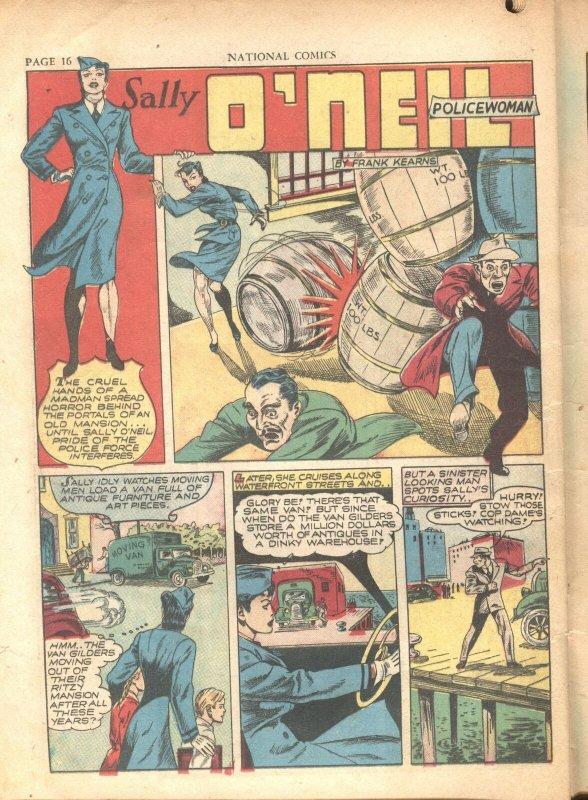 NATIONAL COMICS #20-1942-UNCLE SAM-WONDER BOY-REED CRANDALL-INCOMPLETE-RARE