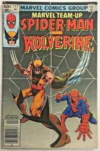MARVEL TEAM UP#117 FN/VF 1981 WOLVERINE BRONZE AGE COMICS