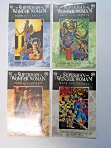Superman Wonder Woman Whom Gods Destroy set #1 to #4 - see pics - 8.0 - 1996