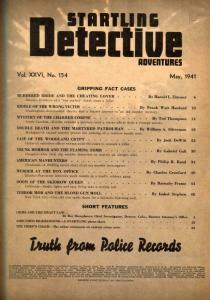 Startling Detective Adventures Magazine May 1941- true crime