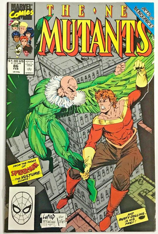 NEW MUTANTS#86 VF/NM 1990 (CABLE CAMEO) MARVEL COMICS