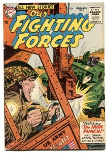 Our Fighting Forces #5 1955- THE IRON PUNCH- fn