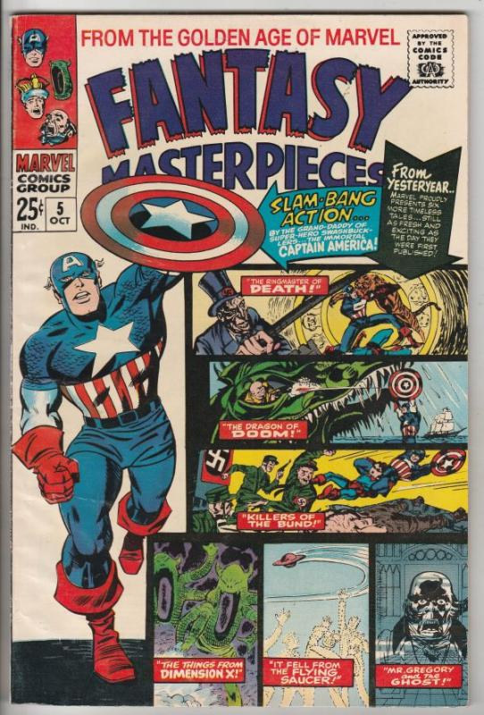 Fantasy Masterpieces #5 (Oct-66) VF/NM High-Grade Captain America, Bucky Barnes