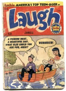 Laugh #52 1952-Archie fishing cover-Katy Keene- G-